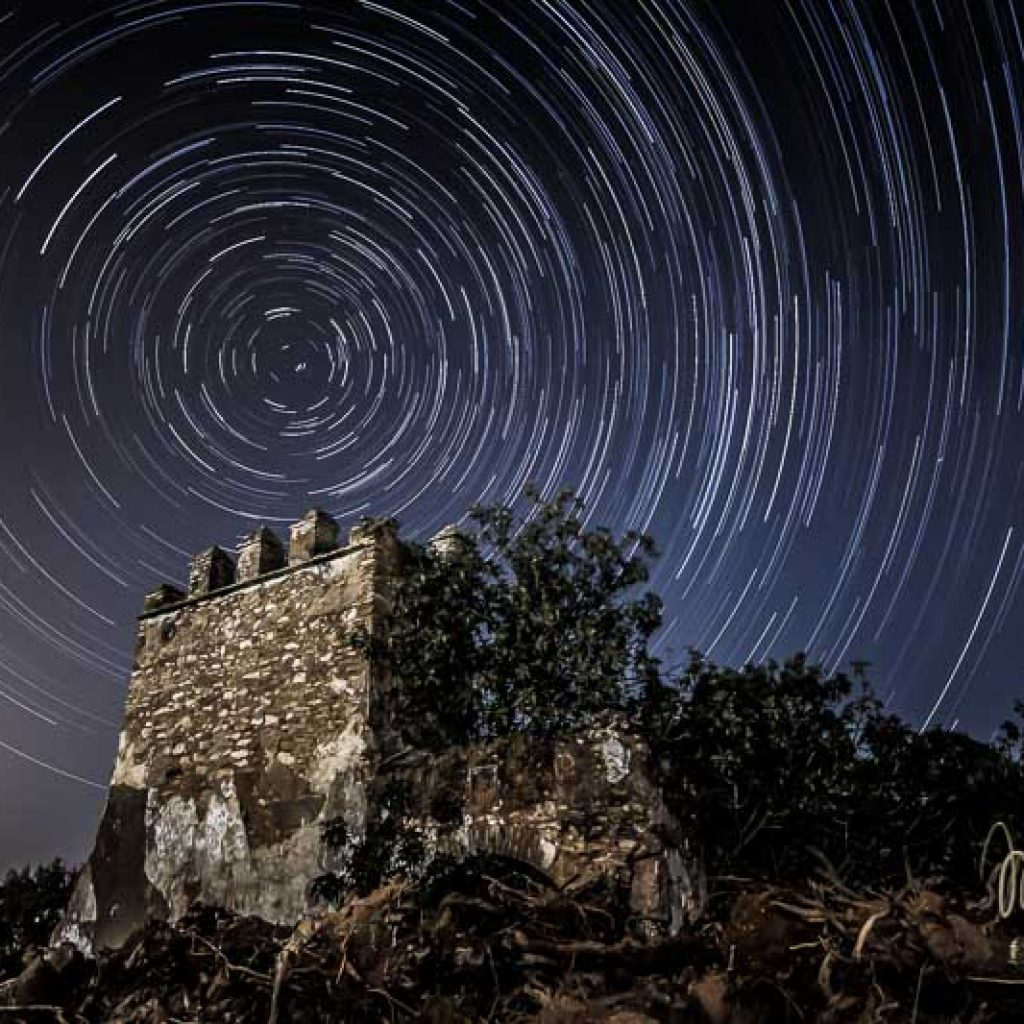 nocturna con circumpolar de la torreta del cortijo de torrepalma