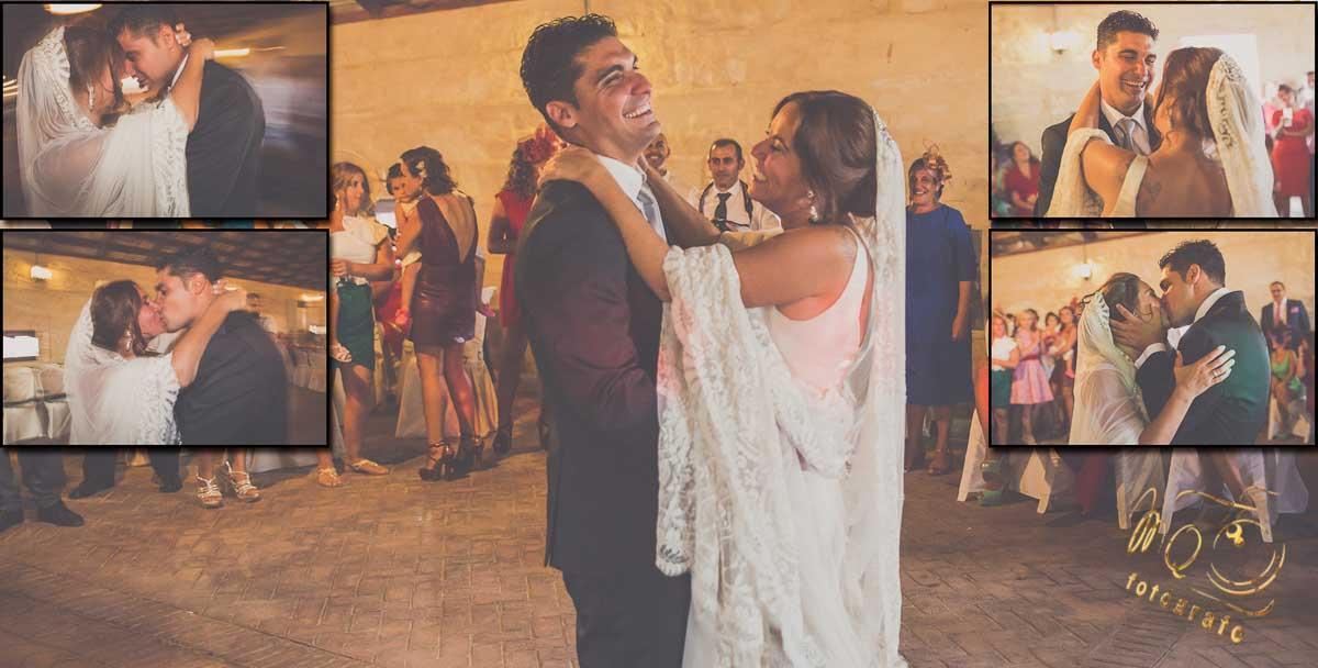 Maquetación de baile de los novios