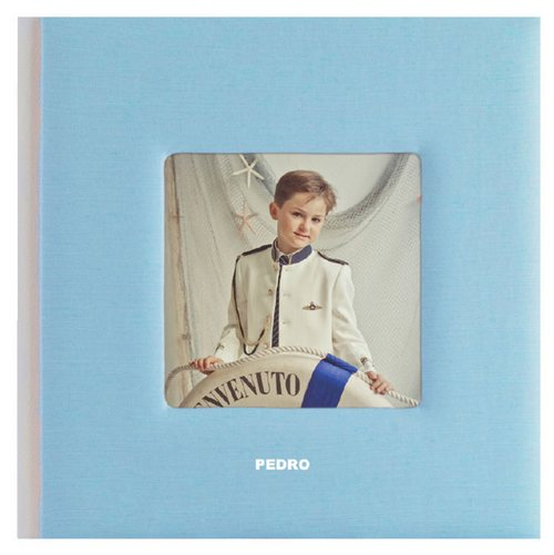 Álbum de comunión seda color con foto de niño