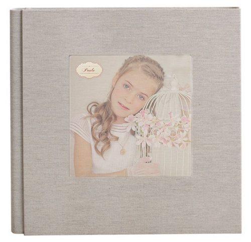 Álbum de comunión vintage con foto de niña